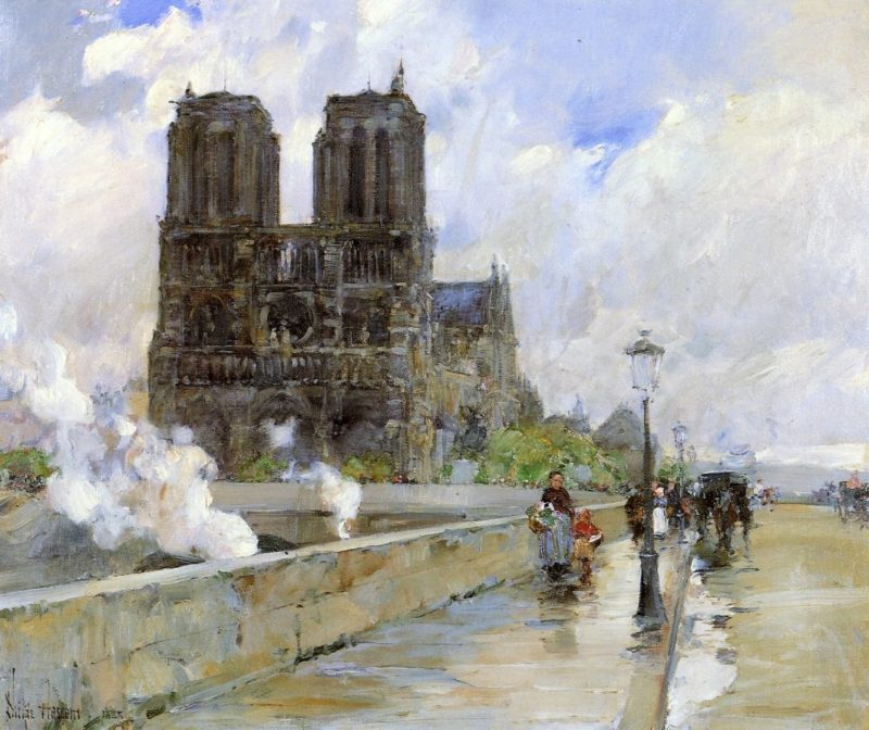 Notre Dame Cathedral, Paris, 1888 Frederick Childe Hassam