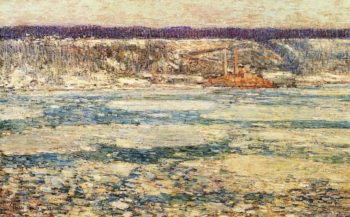 Ice on the Hudson | Frederick Childe Hassam | oil painting