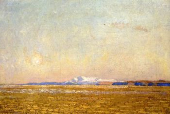 Moonrise at Sunset, Harney Desert Frederick Childe Hassam