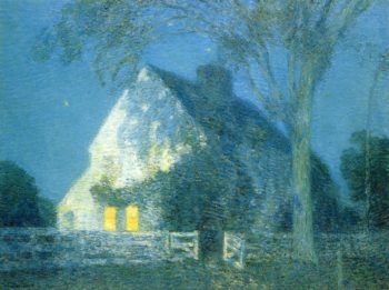 Moolight, the Old House Frederick Childe Hassam