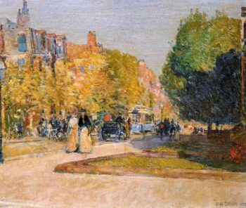 Marlborough Street, Boston Frederick Childe Hassam