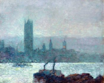 Houses of Parliament, Early Evening Frederick Childe Hassam