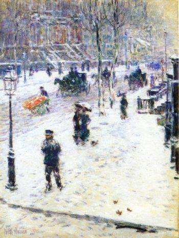 Fifth Avenue in Winter1 Frederick Childe Hassam