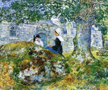 In Brittany Bay | Frederick Childe Hassam | oil painting