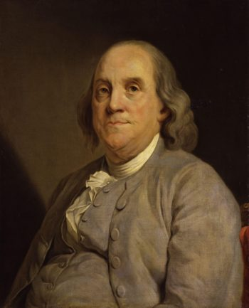 Benjamin Franklin | Joseph Siffred Duplessis left | oil painting