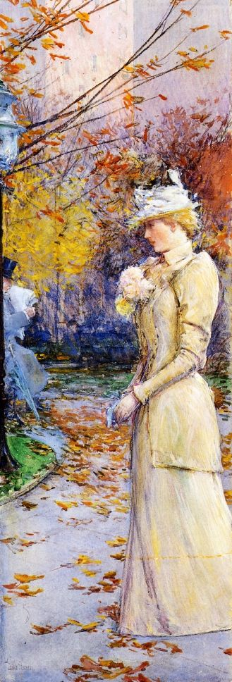 Indian Summer in Madison Square | Frederick Childe Hassam | oil painting