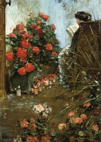 In the Garden at Villers le Bel | Frederick Childe Hassam | oil painting