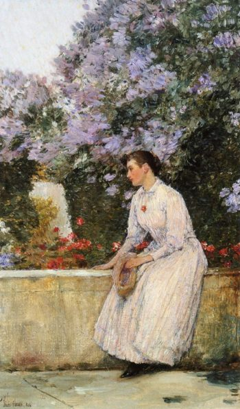 In the Garden | Frederick Childe Hassam | oil painting