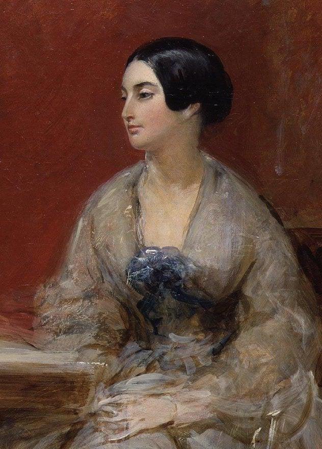 Caroline Norton   Frank Stone   oil painting