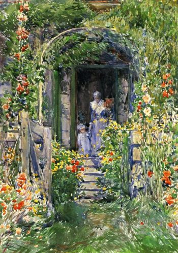 Isles of Shoals Garden | Frederick Childe Hassam | oil painting