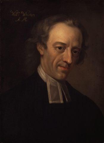 William Whiston   Sarah Hoadly   oil painting
