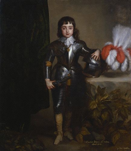 Charles II as child portrait | Anthony van Dyck 1637 | oil painting