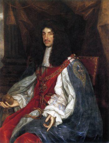 Charles II in garter robes | Unknown Artist | oil painting