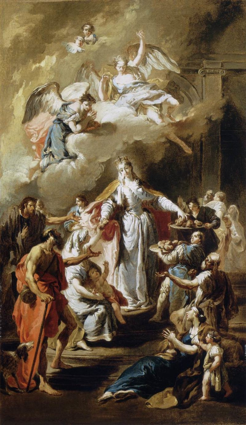 St Elizabeth Distributing Alms | Giovanni Battista Pittoni | oil painting