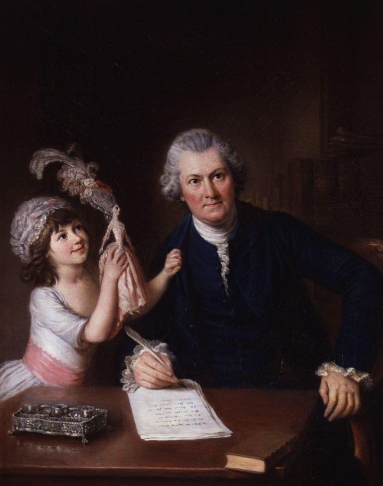 Christopher Anstey with his daughter | William Hoare | oil painting