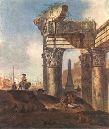 Ancient Ruins | Jan Baptist Weenix | oil painting