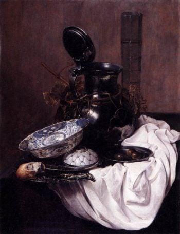 Still Life with Pewter Jug (1645) | Jan Jansz Treck | oil painting