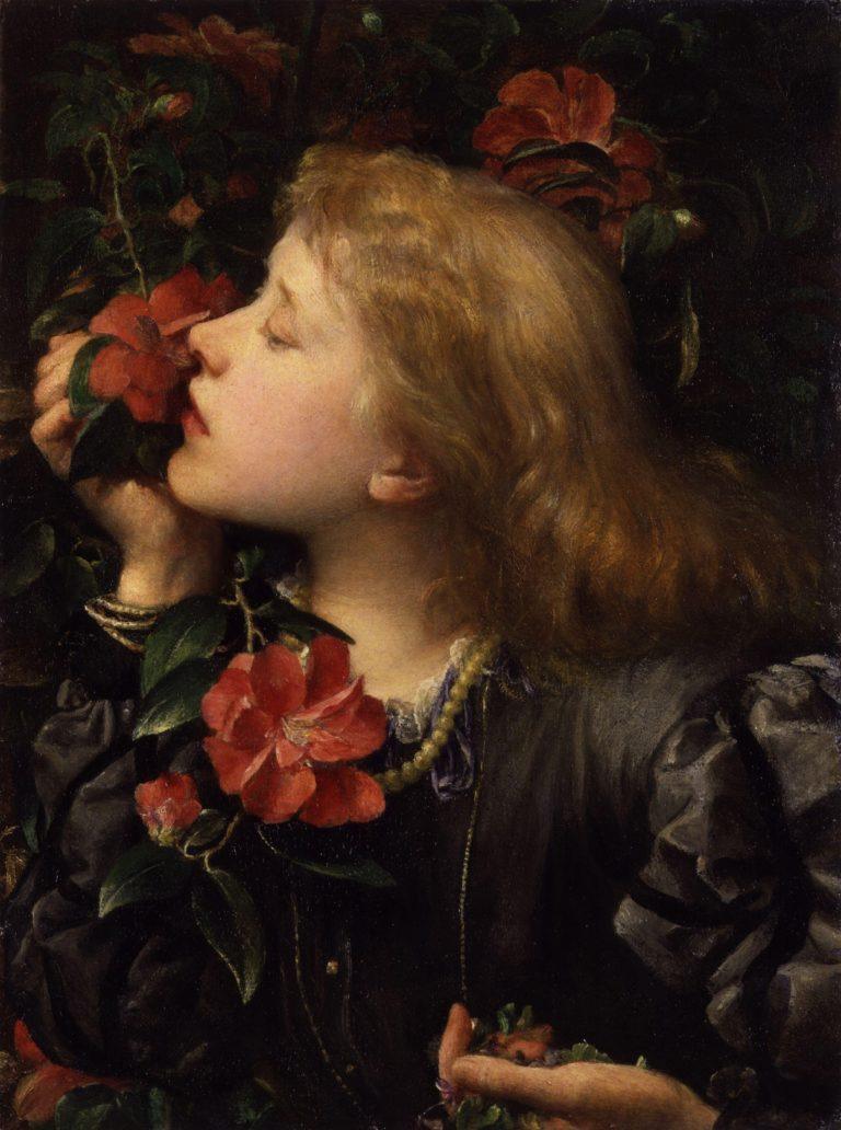 Dame Alice Ellen Terry Choosing   George Frederic Watts   oil painting