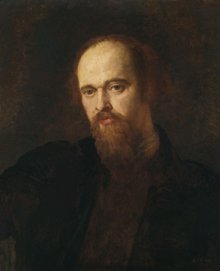 Dante Gabriel Rossetti   George Frederic Watts   oil painting