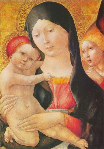 Mary with child and angel | Liberale da Verona | oil painting