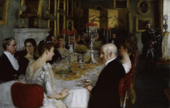 Dinner at Haddo House 1884 | Alfred Edward Emslie | oil painting