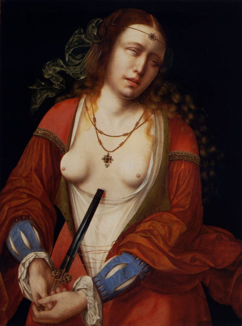 Lucretia Holy Blood | Master of the Holy Blood | oil painting