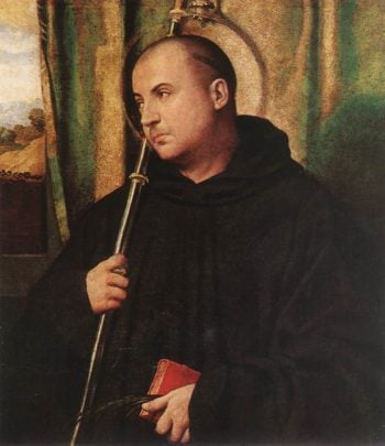 A Saint Monk | Moretto da Brescia | oil painting