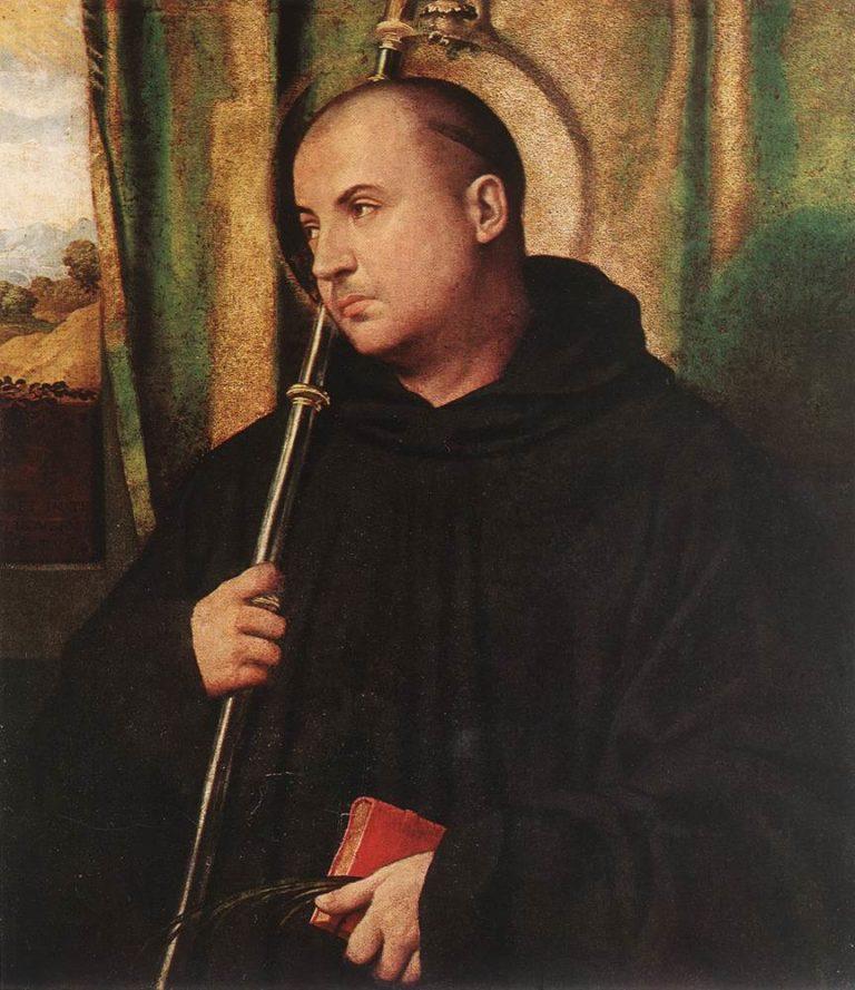 A Saint Monk | Moretto da Brescia | oil painting