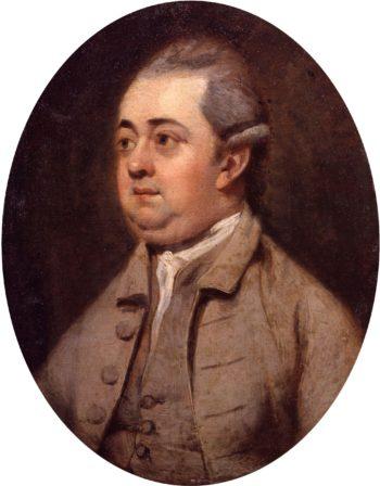 Edward Gibbon   Henry Walton cleaned   oil painting