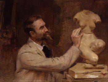 Edward Onslow Ford   John McLure Hamilton   oil painting