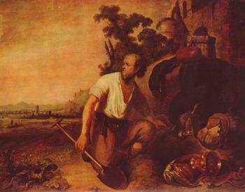 Das Gleichnis vom Schatzgraber | Rembrandt Harmensz. van Rijn | oil painting