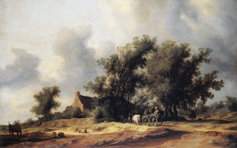 Road in the Dunes with a Passenger Coach | Salomon van Ruysdael | oil painting