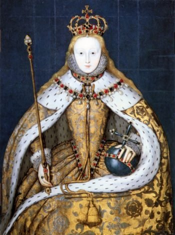 Elizabeth I in coronation robes | Unknown Artist | oil painting