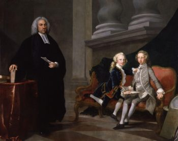 Francis Ayscough with the Prince of Wales later King George III and Edward Augustus Duke of York and Albany | Richard Wilson | oil painting