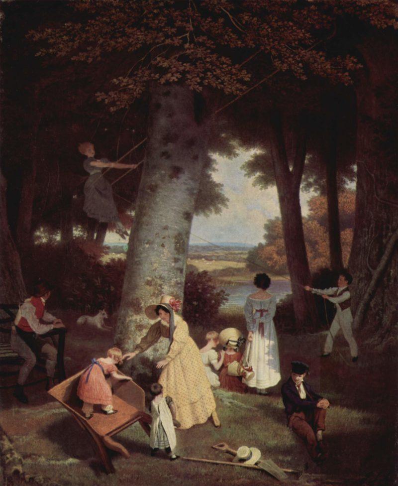 Der Spielplatz | Jacques Laurent Agasse | oil painting