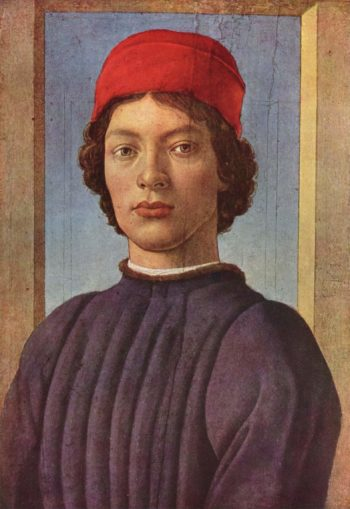 Portr?t eines J?nglings mit roter M?tze | Botticelli