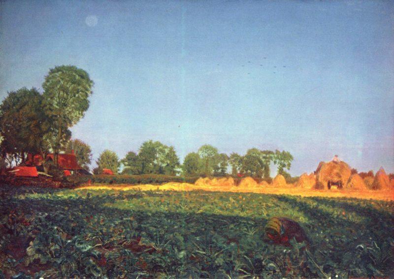 Bei der Kornernte   Ford Madox Brown   oil painting