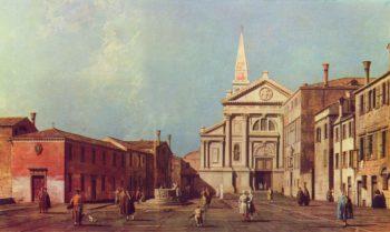 Il Campo e la Chiesa di San Francesco della Vigna. | Canaletto II | oil painting