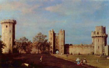 Innenhof des Schlo?es von Warwick | Canaletto II | oil painting
