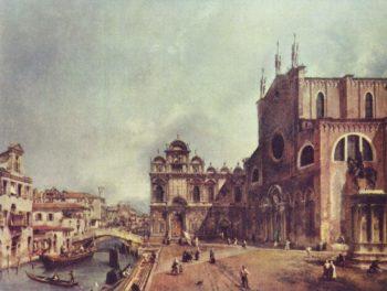 Platz vor San Giovanni e Paolo in Venedig | Canaletto II | oil painting