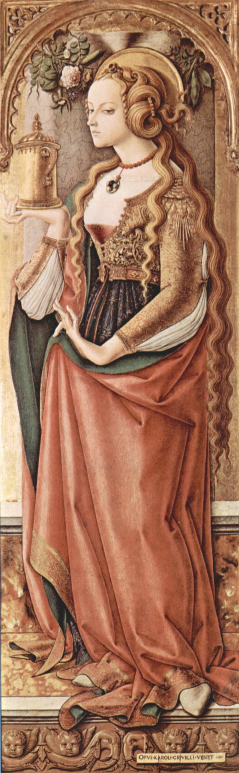 Mary Magdalene.   Carlo Crivelli   oil painting