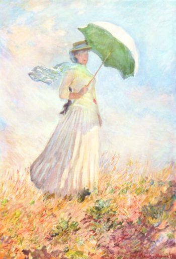 Dame mit Sonnenschirm