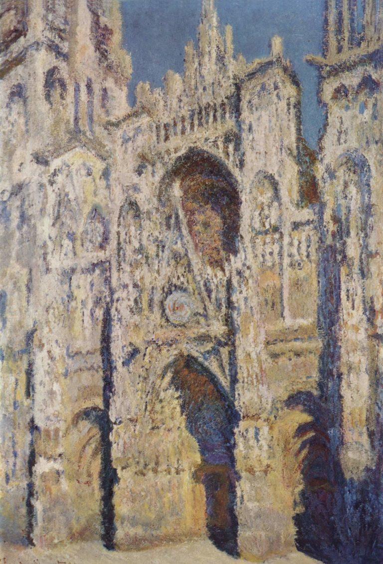 Kathedrale von Rouen (Das Portal und der Turm Staint-Romain bei strahlender Sonne