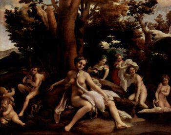 Leda mit dem Schwan | Correggio | oil painting