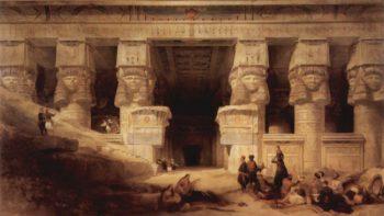 Der Tempel der Dendera | David Roberts | oil painting