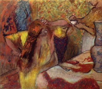 Frau bei der Toilette | Edgar Degas | oil painting