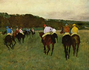 Rennpferde in Longchamp | Edgar Degas | oil painting