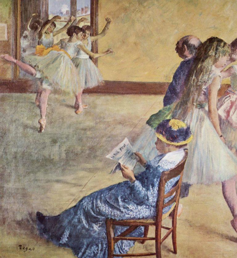 W?hrend des Tanzunterrichts: Madame Cardinal | Edgar Degas | oil painting