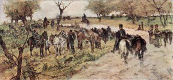 Das Feldlager   Giovanni Fattori   oil painting