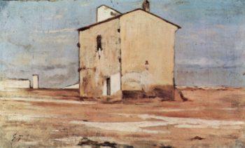 Der Schindanger in Livorno | Giovanni Fattori | oil painting